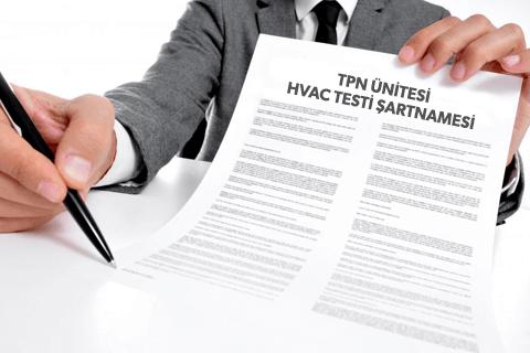 TPN Ünitesi HVAC Testi Teknik Şartnamesi